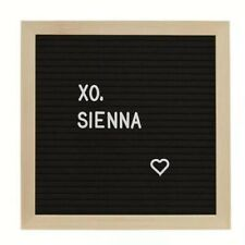 "XO, Sienna Felt Message Board 189 Letters etc, 11.2"" x 10.4"" New"