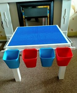 KIDS'S BUILDING BLOCK TABLE FULLY COMPATIBLE WITH LEGO FREE UK DELIVERY
