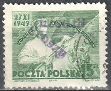 """Poland 1950 - Congress - surcharged """"GROSZY""""  Fi.503 - used"""