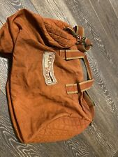 Vintage KIPLING Burnt Orange  Large Nylon Zippered Duffle Bag