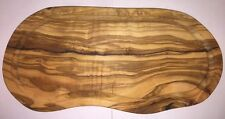 Utopia Solid Olive Wood Serving Board Rustic Natural Curved Design - Kitchen