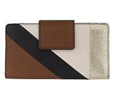 d34e009630 FoSSiL Emma Tab Clutch RFID Wallet Neutral Stripe NWT