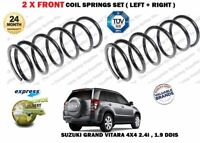 FOR SUZUKI GRAND VITARA 2.4i 1.9 DDIS 4X4 2005 > 2X FRONT COIL SPRINGS SET