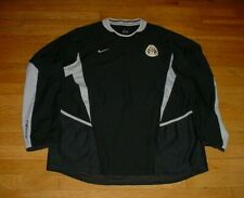 Vintage Authentic Nike Mexico Long Sleeve Soccer Jersey Black #24 Men XL Rare!