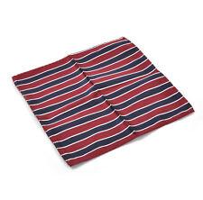 Navy & Red Striped Pocket Square Handkerchief