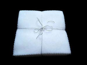 NEW White Reusable Washable Baby Fleece Wipes x10