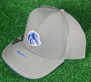 NIKE Aerobill Boise State Broncos FOOTBALL Authentic Team Issue HAT Adjustble XL