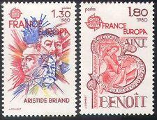 FRANCIA 1980 EUROPA/San Benedetto/POLITICA/arte/ANIMAZIONE 2v Set (n31631)