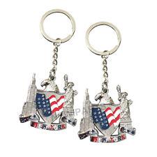 12pcs NYC USA Souvenir American Eagle Star Stripe Shield Liberty Key Chain N250