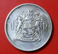 "Süd Afrika 1 Rand 1969 Silber KM#71 F#3704 SS-VF ""Präsident Dönges"""