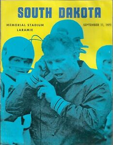 1971 WYOMING v SOUTH DAKOTA FOOTBALL game program, Original