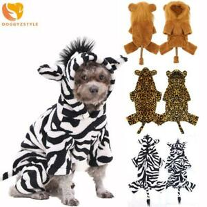 New Small Pet Dog Jumpsuit Pajamas Warm Fleece Puppy Cat Hoodie Coat Clothes