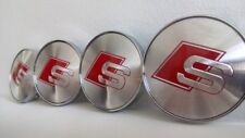 4x S line Radnabendeckel Felgendeckel Nabenkappen Wheel centre caps 60mm