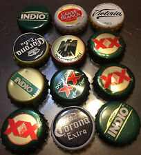 Mexican Beer Bottle Caps Lot of 12 Dent