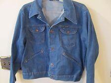 Vintage WRANGLER NO FAULT DENIM JEAN JACKET Size 44 TRUCKER 4 POCKETS 126MJ