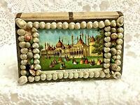 Antique Victorian Sailor's Shell Box