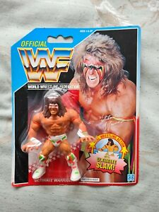WWF Ultimate Warrior 1990 Hasbro mint on card WWE