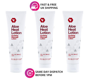 3 ✖ Forever Living Aloe Heat Lotion Soothing Massage Lotion 118ml Original