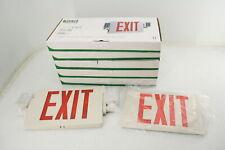 Yanren 6 Piece Adjustable Emergency Light Exit Sign W Two Led Floodlights Red