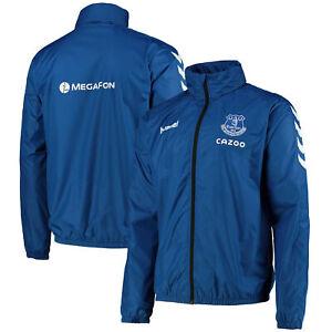Everton Matchday Lightweight Sport Outdoor Training Jacket Hummel  - True Blue
