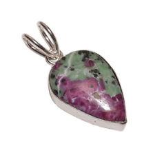 Collares y colgantes de joyería con gemas rubí plata