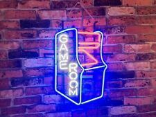 "New Game Room Arcade Neon Light Sign 17""x14"" Beer Cave Gift Bar Real Glass"