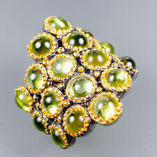 Vintage Natural Peridot 925 Sterling Silver Ring Size 6.5/R121204