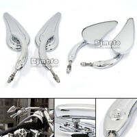 1 Pair Universal Chrome Motorcycle Rearview Side Mirrors For Harley-Davidson