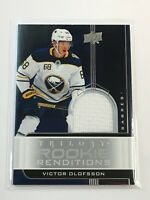 F60378 2019-20 Trilogy Rookie Renditions Jerseys Silver Victor Olofsson Sabres