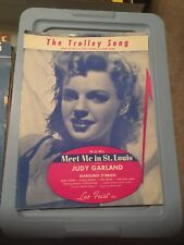 Vintage Sheet Music: The Trolley song- Mt Me in St Louis, Judy Garland 1944