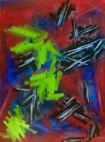 "painting street art modern  abstract contemporary""flamenco spirit""60x80 cm signé"