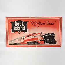 1944 Rock Island Railroad Ticket Jacket Folder Chicago to La Salle Illinois WWII