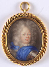 """""""Friedrich Wilhelm I of Prussia"""", important miniature on playing card, ca.1715"""
