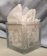 New listing Baby Block Vase Vintage Baby Shower Lead Crystal Cube Flowers Nursery Gift