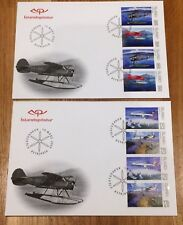 Iceland Post Official Illustrated FDC 2009.03.19. Aviation History Booklet Panes