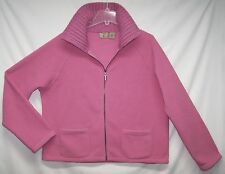 Mountain Lake Sz XL Fleece Jacket Sweater Soft Pink Knit Collar