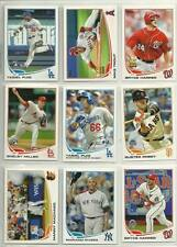 2013 Topps (595) Card Lot Puig Harper Trout Machado Posey Rivera Miller