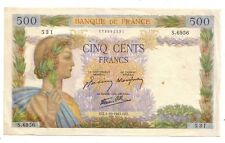 Francia  France 500 franchi 01/10/1942  BB+ VF + pick 95b   lotto 2734