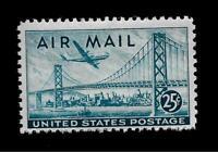 US Air Mail Sc# C 36  25 c Airmail Stamp Mint NH - Crisp Color - Centered