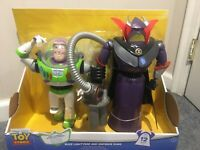 Toy Story Disney Pixar Buzz Lightyear & Emperor Zurg 2 Pack Talking Action Figur