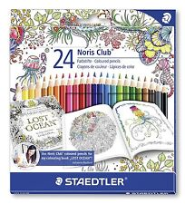 24 X Staedtler Noris Club Colorante Lápices 144 NC24JB-Johanna Basford Edition
