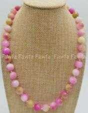 Pretty 6/8/10/12mm Faceted Multicolor Kunzite Gemstone Round Beads Necklace 18''