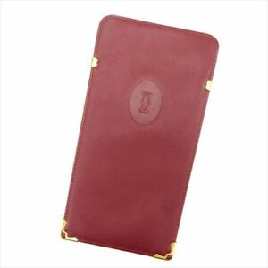 Cartier glasses case Mastline Red Gold Woman unisex Authentic Used T6827