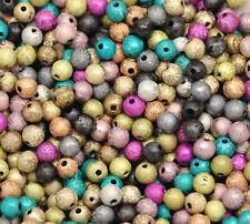 100 Mixte Bijoux Perles Acrylique intercalaires Multicolore 4mm Dia.