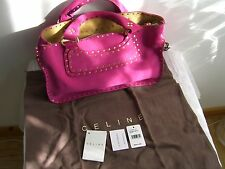 Authentic CELINE boogie bag, fuchsia pink suede, brand NEW with tags