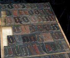 Blackletter Letterpress Wood Printing Blocks 80pcs 642 Alphabet Wooden Type