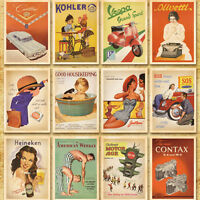 Postcards Sets 32pcs European American Photo Vintage Postcards (14cm x 10cm )