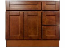 36-inch Vanity Cabinet with Right Drawers Elegant Cherry
