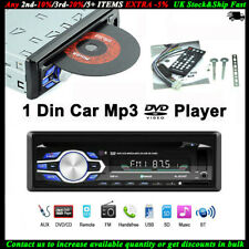 Single 1 Din Car Radio DVD CD MP3 Player FM BT Audio USB/AUX/SD In-dash Stereo