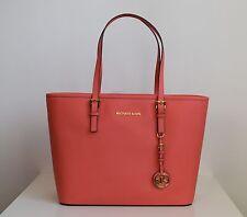 MICHAEL KORS Damen Tasche JET SET TRAVEL TZ TOTE Saffiano Leder pink grapefruit